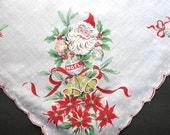 Holiday Hankie, Handkerchief, Ladies Handkerchief, Vintage Handkerchiefs, Hankerchief, Holiday Print, 1960s, All Vintage Hankies