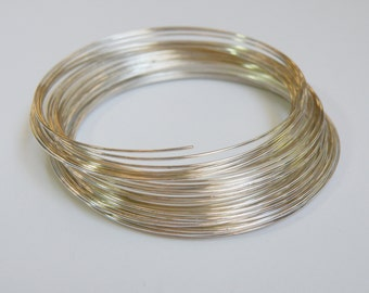 Bracelet Memory Wire silver plated stainless steel 2.25 inch 0.6mm 23 gauge 25 loops PMW5-S