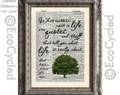 What Matters Most Inspirational Quote Tree on Vintage Upcycled Dictionary Art Print Book Art Print Repurposed Recycled Sarcastic Satire