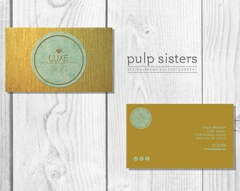 Luxe Customizable Business Card Template