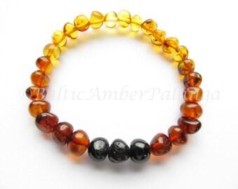 Rainbow Color Baltic Amber Bracelet