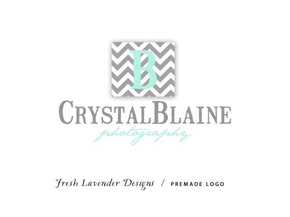 Premade Logo and Watermark for Photographers and Small Crafty Boutiques Chevron Monogram