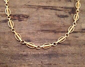 Unique Vintage 18k Yellow Gold Italian Necklace / Chain