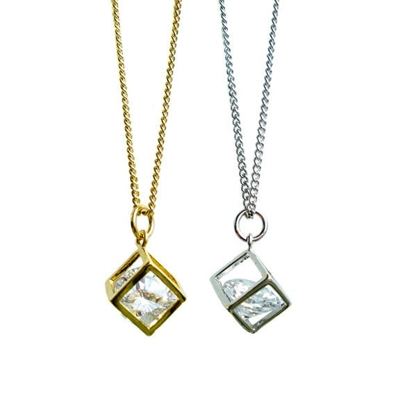 Crystal in the Box Pendant Necklace