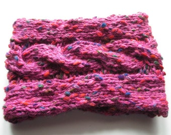 Pink Chunky Cable Cowl