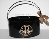 Personalized Utensil Holder/ Kitchen Utensil Caddy -  Tailgates and get togethers - Desk Organizer - Assorted Colors, Many Designs