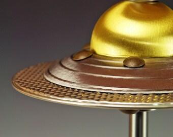 Table lamp, UFO lamp, Googie lamp, Machine age lamp, Atomic ranch lamp, Art Deco lamp, Steam Punk lamp, 50s lamp . #242