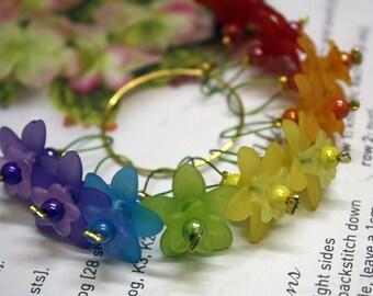 10 Knitting stitch markers flowers