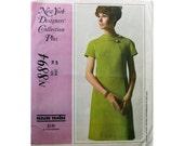 A-line Dress Pattern Sixties McCall's 8894 Size 14