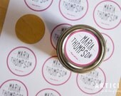 Printable Custom Canning Labels with Your Name - 2 Inch Lid Labels