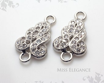 Cz Earring Connector Etsy