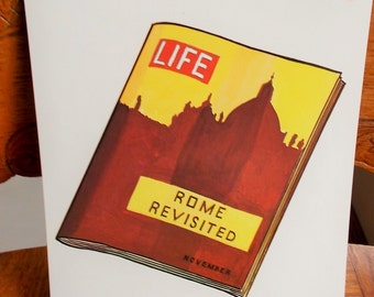 Large Picture Flash Card Life Magazine Rome Vintage 1965 Peabody Language Card Paper Ephemera DIY Project Supply US Shipping Included