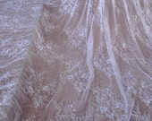 Ivory Chantilly Lace Fabric for Bridal Lace Wedding Gown Caps, Gowns, Lingerie
