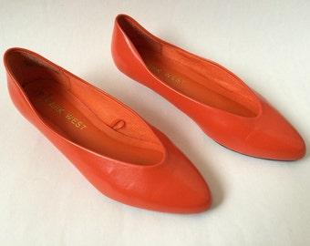 Vintage Tangerine Flats 7