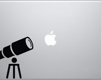 Telescope Pointed Towards The Sky Decal for Macbooks, iPads, Laptops and Vehicles