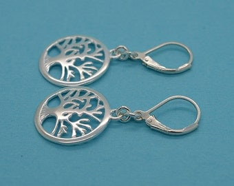 Tree Of Life Earrings Sterling Silver With Sterling Silver Lever Back S03