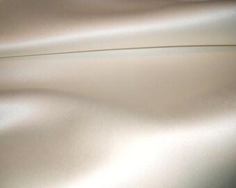 Luxurious Cream Duchess Satin Fabric x one yard