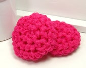 Eco Friendly Dish Scrubbies - Hot Pink Scrubbies - Set of 2