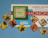 8 Monopoly Magnets Set Vintage Game Pieces Upcycled Gift Novelty