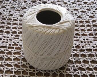 Ecru Crochet Thread Mercerized Cotton South Maid  Crochet and Knit - Size 10  J.P. Coats