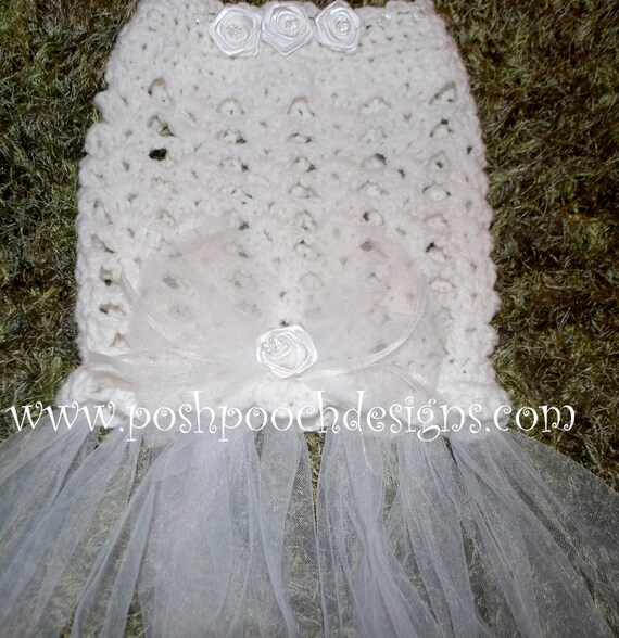 Instant Download Crochet Pattern Dog Wedding Dress For