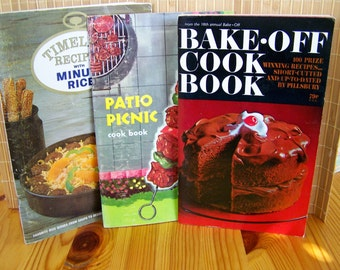 Vintage 60's  Lot of  3   Soft Cover Cook Books