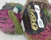 Stash Clearance Noro Aya Yarn 100 Grams-Pink, Green, Black Variegated Colors