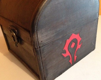 World of Warcraft Horde inspired MINI box chest
