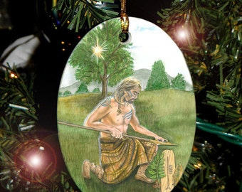 Ash Tree, Lugh Celtic Tree Ogham Voice of the Trees Ornament