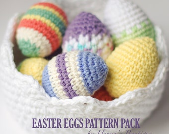 Crochet Pattern - Easter Eggs Pattern Pack - PDF