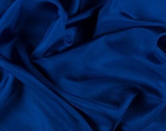"45"" Wide 100% Silk Habotai Blue-Wholesale by the Yard"