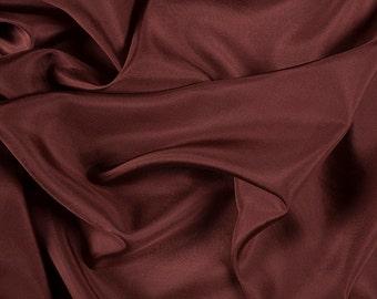 "45"" Wide 100% Silk Habotai Rust-Wholesale by the Yard"