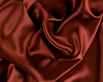 "45"" Wide 100% Silk Charmeuse Copper By the Yard"