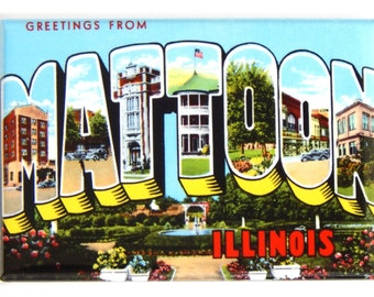 Greetings from Mattoon Illinois Fridge Magnet