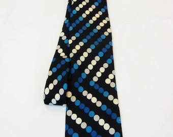 Lanvin Vintage Mens Silk Polkadot Tie