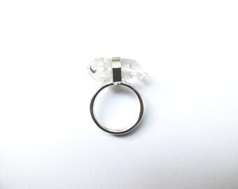 Sideways Quartz Ring
