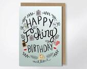 Birthday Card - Happy F-cking Birthday - Adult Greeting Card - Funny Birthday Card - Mature - Funny Greeting Card - Pizza Birthday Card