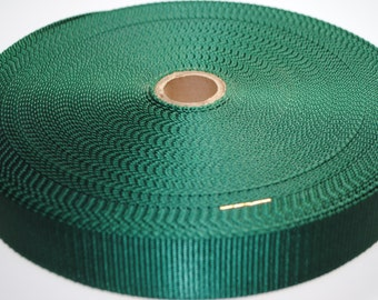 """1.5"""" Green Nylon Heavy Weight Webbing - Two or Five Yards - More Available"""