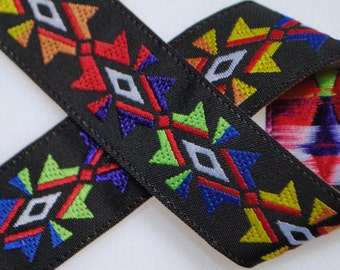 "Sunburst Colorful Jacquard Trim 3/4"" wide - Two, Five, or Ten Yards"