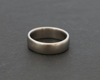 Mans Wedding Band - Palladium Wedding Band - Mans Palladium Wedding Ring - Gold Wedding Ring - Made to Order - FREE SHIPPING