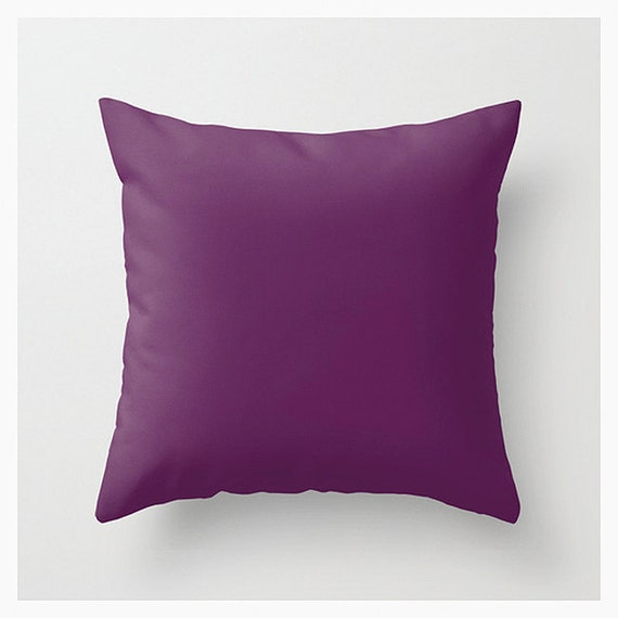 Solid Purple Decorative Pillows : Solid Color Accent Pillow Cover Purple Decorative Throw by ArtBJC