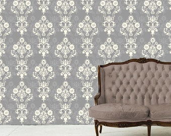 Removable Wallpaper-Enoch- Peel & Stick Self Adhesive Fabric Temporary Wallpaper-Repositionable-Reusable- FAST. EASY.