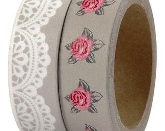 Lace & Rose Washi Tape set