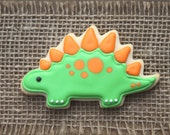 Dinosaur Favors / Dinosaur Birthday Party / Dinosaur Party Favors / Dinosaur Decorations / Stegosaurus Sugar Cookies - 12 cookies