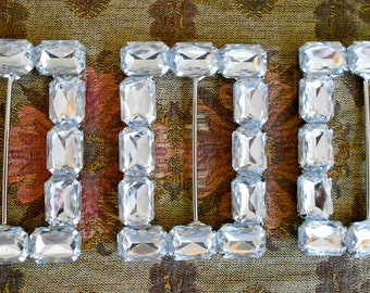 Clear Stone Buckles