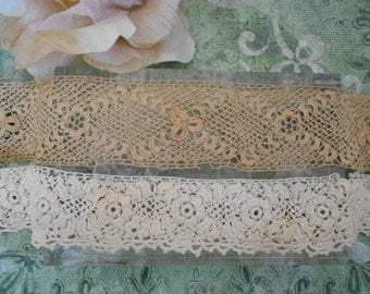Victorian Taupe and Ivory Irish Crochet Trim