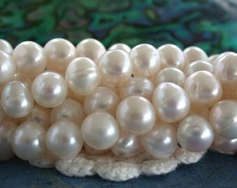 Fresh Water Pearls, White Fresh Water Pearls, Wedding Pearls, Potato Pearls, Heirloom White Fresh Water Pearls  FWP-058