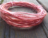 Wire Yarn, Fiber  Wire Core Handspun Art Yarn, 24 gauge wire Red Riding Hoods Wolf- Pinky and the Brain