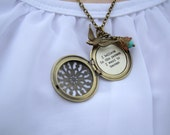 I Believe In The Person I Want To Become Locket Necklace Boho Bohemian Brass Locket Necklace With Quote