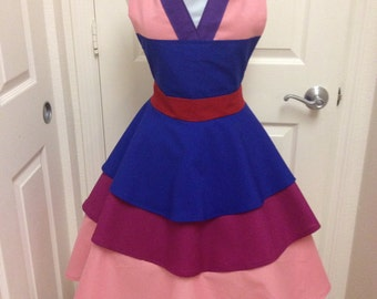 Mulan costume apron dress